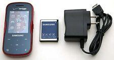 Samsung Trance SCH-U490 Verizon Slider Cell Phone BT GPS MP3 Music 1.3MP Web RED
