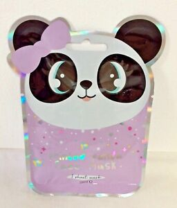 PANDA BEAR PRINTED BEAUTY FACE MASK SHEET PAMPER KIDS GIRL GIFT CUTE KAWAII RARE