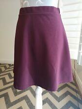 New Look Burgundy Skater Style Skirt Size 12 Maroon Short Floaty Summer light
