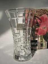 "Mikasa Clear Crystal Bud Vase ""Monarchy"" Contemporary Design 4 3/4""- Box- Japan"