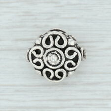 Ornate Bead Charm Sterling Silver 925 Slide Jewelry Making
