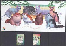 GUYANA:2001 'Hong Kong 2001' Cats & Dogs sheetlet(2) +MS(2) SG6068-87+MS6068MNH