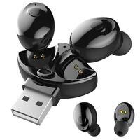 Wireless Headset Waterproof Wireless Earpiece Rotatable Headphone Stereo Earbud