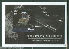 Nevis 2015 Rosetta Mission Sheet Mint Nh
