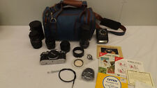 Canon AE-1 Camera w/3 Lens RMC TOKINA 80-200, 28mm Rokinon f135 mm + Lots More