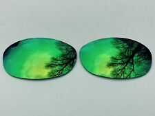 POLARIZED GREEN MIRRORED REPLACEMENT OAKLEY FIVES 2.0 LENSES