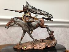 """Legends CA Pardell Bronze Sculpture """"The Final Charge"""" 742/750 Signed 1991"""
