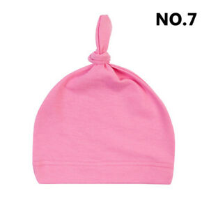 Newborn/Baby's Toddler Infant Kids Boy Girl Cotton Knot Soft Beanie Hat/Cap