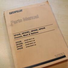 Caterpillar GP40K GP40KL GP45K GP50K Forklift Parts Manual book catalog spare L