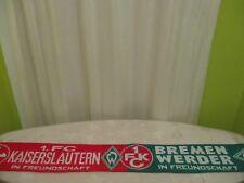 """1.FC Kaiserslautern/Werder Bremen Fan Freundschaft Schal """"IN FREUNDSCHAFT"""""""