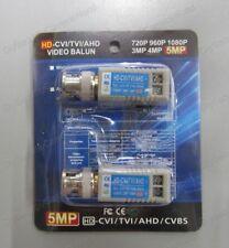 2x Up to 5MP CCTV Camera UTP Video Balun Coax CAT5 to BNC Passive Transceiver