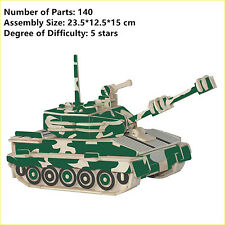 New Assembly DIY Education Toy 3D Wooden Model Puzzles Of Army Number 1 Tank
