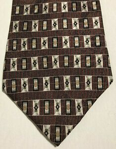 Hill and Archer Mens Tie Red, Gold, and Silver