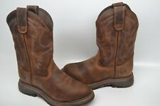 "Double H Men's 11"" Workflex U Toe Roper EH Non-Metallic Boot DH5132 BROWN 12 D"