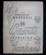 AMAZING 1956 - 1962 Spalding Baseball Score Book Yankees Dodgers Red Sox Giants