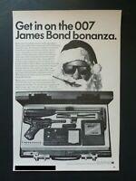 RARE Vtg 1965 DEALER Ad - James Bond 007 Secret Agent Shooting Attaché Case