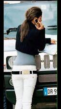 DENNY ROSE PANTALONE bianco jeans raro Introvabile tg. XS