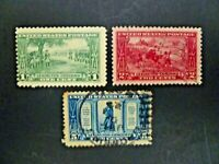 USA 1925 Complete Set of 3 From Lexington-Concord Issue Used/Unused - See Images
