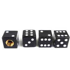 Practical 4pcs/Set Black Dice Car Truck Bike Tire air Valve Stem Caps Wheel Rims
