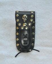 Buck 110 Leather Knife Case - Plain Skull