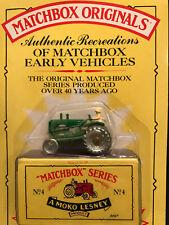 Matchbox Originals Authentic Recreations #4 Massey Harris Tractor NEW Sealed