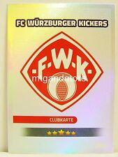 Match Attax 2016/17 2. Bundesliga - #448 Würzburger Kickers - Clubkarte / Wappen