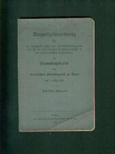 Bergpolizeiverordnung für Bergwerke Oberbergamt Bonn 1912 Gruben Arbeiter