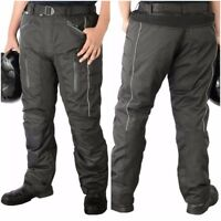 Motorbike Motorcycle Waterproof CE Approved Armour Textile Cordura Trouser Pants
