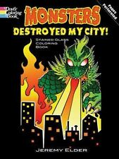 Monsters Destroyed My City! Stained Glass Coloring Book (Dover Stained Glass Col