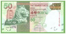 HONG KONG - 50  DOLLARS - 2012 - P-213 - UNC - REAL FOTO