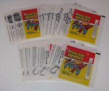 1975 Topps Comic Book Heroes Original Wrapper Lot (20) - Flat Ship