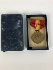 Vintage 1953 Medal National Defense & Ribbon With Original Box - FSTSHP USA