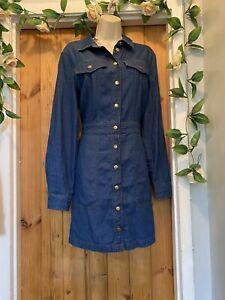 WAREHOUSE DENIM DIXIE SHIRT NEXT DRESS SIZE 16