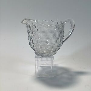 Clear Glass Creamer 3 Inches Tall