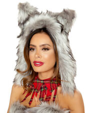 Grey Wolf Hood Costume Hood Animal Hood Roma Costume 4832 Furry Hood