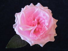 "Vintage Millinery Flower Rose 4"" Shaded Pink Silk for Hat Wedding + Hair Y241b"