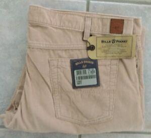 NWT Bills khakis 5T31-CE14 SZ 33x31 5-Pocket Trim Fit Blush CORDUROY $165