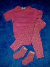Vhtf Vtg '90s Rainbow Label Gymboree French Country coral Lot Xs 9-18 mos.~Rare