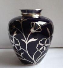 Stunning HUTSCHENREUTHER, Hohenberg 1000 SILVER OVERLAY Colbolt Blue Vase c1920s