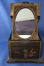ORIENTAL LACQUER JEWELLERY BOX with MIRROR
