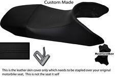 BLACK STITCH CUSTOM FITS HONDA TRANSALP XL 650 LEATHER SEAT COVER
