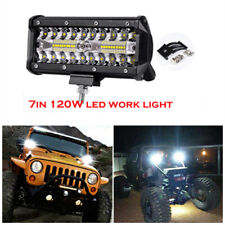 7Inch 120W CREE LED Work Light Pods Flush Mount Combo Beam Driving Lamp for SUV