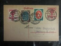1919 Weimar Germany Postal Stationary Cover National Assembly Cancel