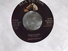 45 ! JOHNNY RESTIVO ON RCA RECORDS COME CLOSER / OUR WEDDING DAY EX COPY