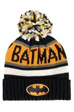 OFFICIALLY LICENSED DC COMICS BATMAN KNITTED BOBBLE HAT BEANIE