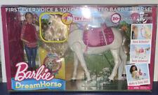 New ListingBarbie Dream Horse Voice & Touch Activated Walks & Turn 360 Deg. + Barbie