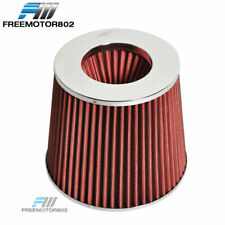 RED KN TPYE AIR FILTER INTAKE UNIVERSAL FOR MOST CAR 3.5 INCH PERFORMANCE INLET
