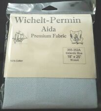 "Wichelt Imports Premium Cross Stitch Fabric Aida 16ct 18"" X 25"" Icelandic Blue"