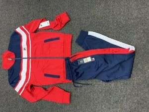 FILA MENS GORDON JACKET TRACK SUIT SET NAVY /RED