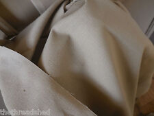 Vintage Heavy Tan Canvas Fabric BTY 53W Upholstery Totes Bags 50C0tt /50Poly 70s